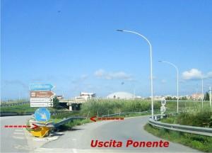 USCITA PONENTE SENZA FRECCE